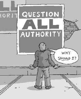 contesting authority Challenging authority at all levels is vital in our building of a healthy society and for the creative, there is hardly a greater imperative in systems of education, national and local government, in work environments, sports clubs and organisations.